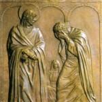 Kwatera jedenasta przypomina najczarniejszą noc w życiu Szymona z Galilei - jego zaparcie się Jezusa, jego największą chwilę słabości. Piotr ukazany jest tutaj już po zdradzie. Kobietę, która go rozpoznała, artysta umieścił na dalszym planie, zaledwie zarysowując jej postać przy ognisku. Na pierwszy plan wysunął Jezusa  i Piotra. Piotr ukrył twarz w dłoniach i płacze, idąc gdzie go nogi poniosą. Oddala się od dziedzińca zaznaczonego trzema arkadami portyku. Idzie, niosąc pod powiekami obraz umiłowanego Mistrza, który z dala przesłał mu ostatnie spojrzenie. Conversus Dominus respexit Petrun - brzmi napis u góry obrazu. A Pan obrócił się i spojrzał na Piotra (Łk 22, 61).