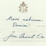 10. Trzecia strona Kartki świątecznej z życzeniami Jana Pawła II, z 30 marca 2005 r.