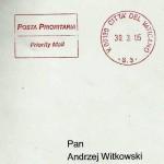 12. Koperta na Kartkę świąteczną od Jana Pawła II, Papieża