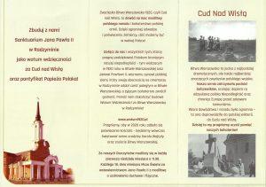 1. Zbuduj z nami Sanktuarium Jana Pawła II i Cudu nad Wisłą
