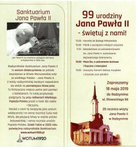 2. Sanktuarium Jana Pawła II i 99 urodziny