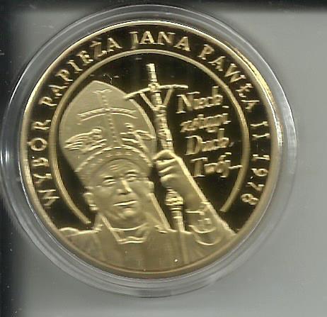 Medal WYBÓR PAPIEŻA JANA PAWŁA II 19780001