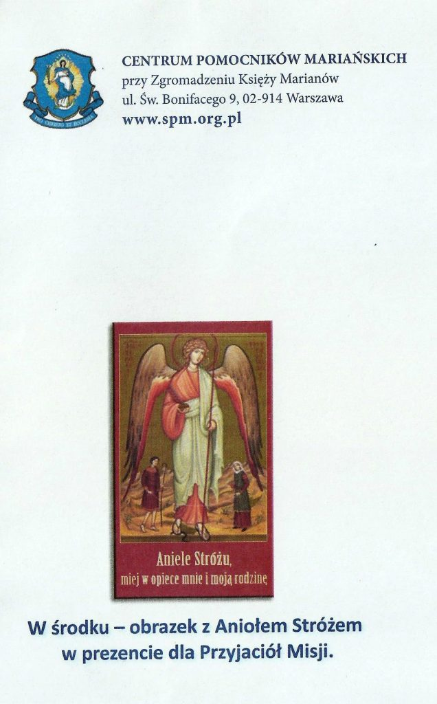 Obrazek z aniołem Stróżem