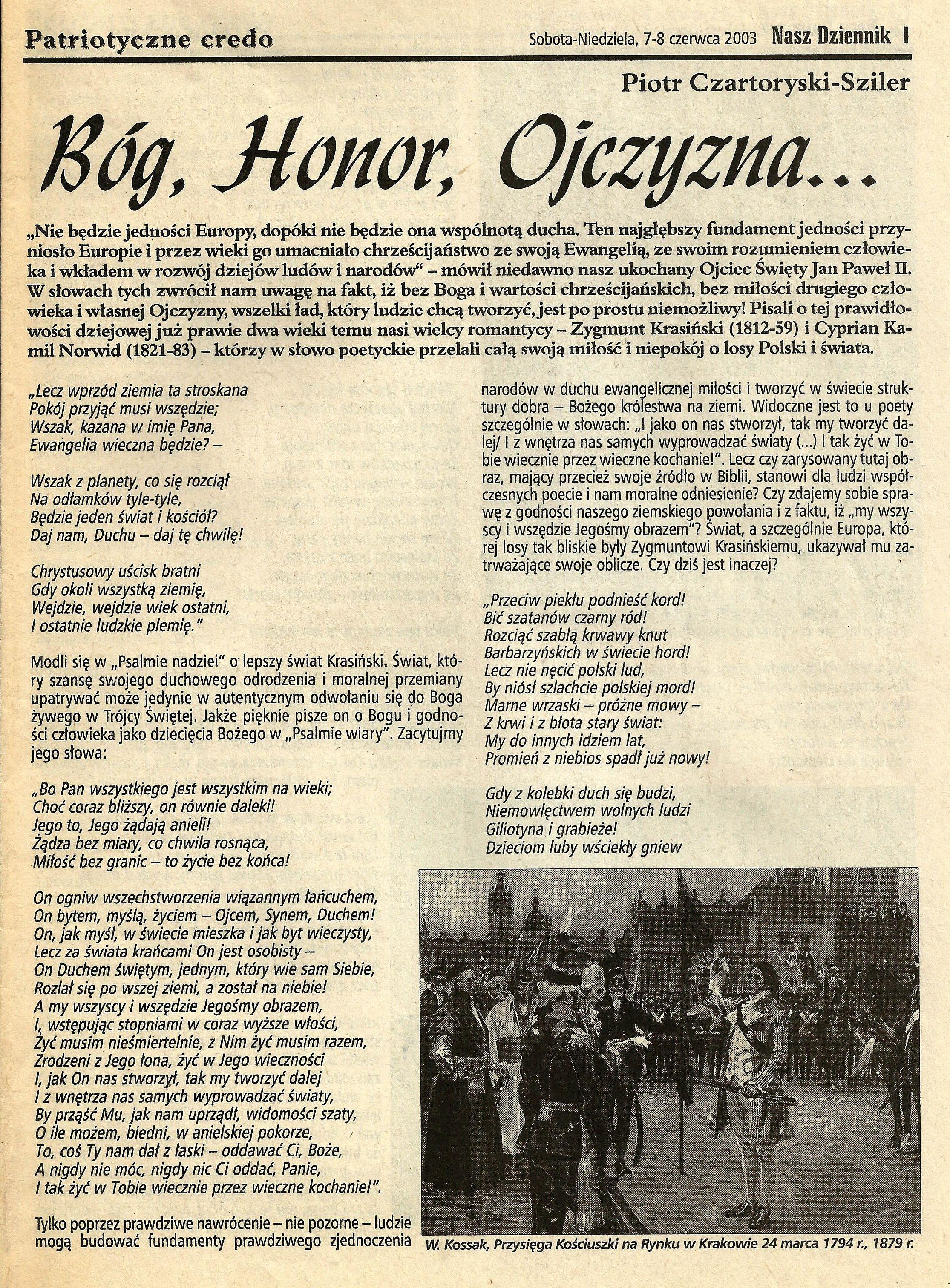 Przysięga Kościuszki