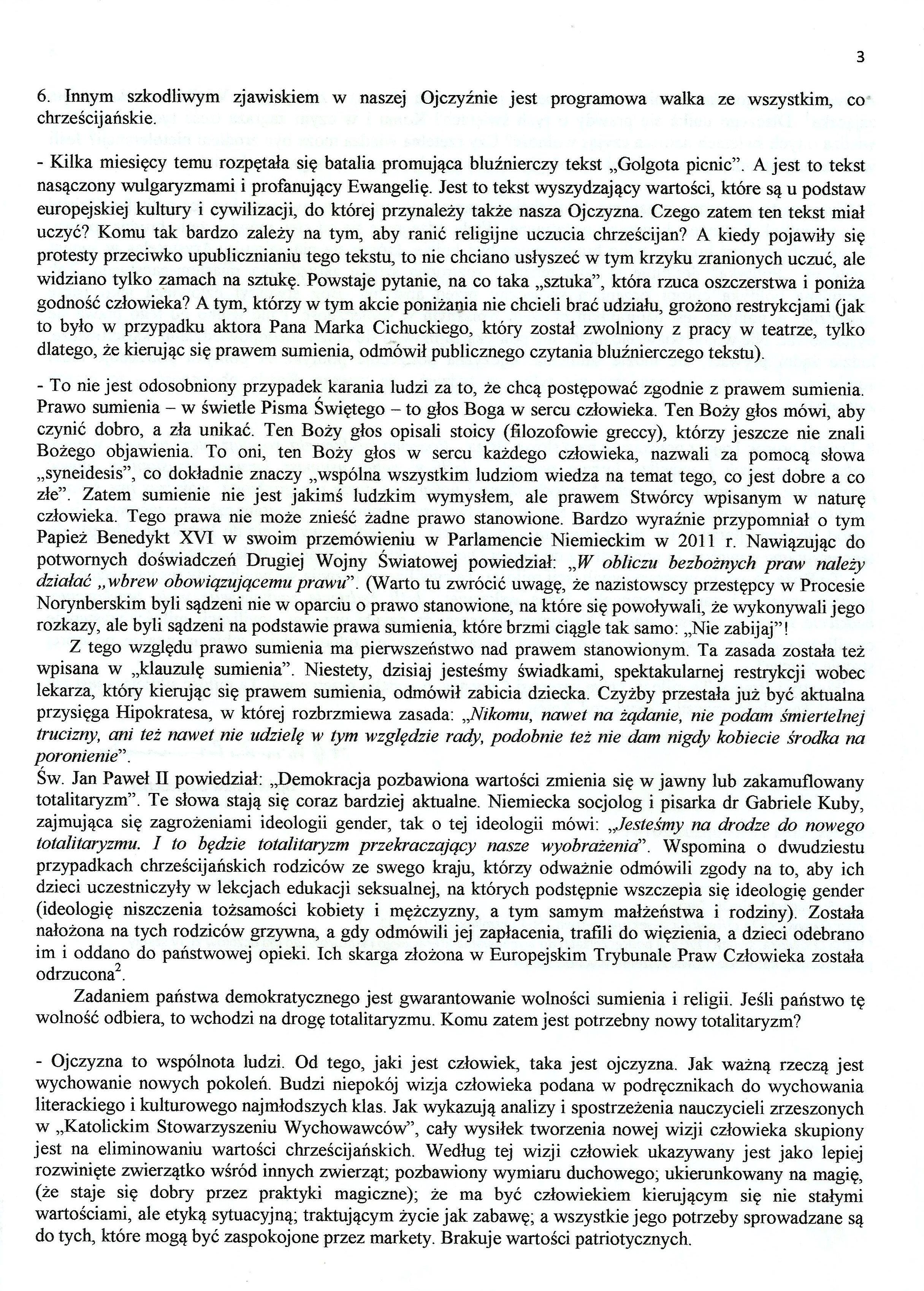 OJCZYZNA TO DAR I ZBIOROWYOBOWIĄZEK - bp Wiesław Szlachetka0003
