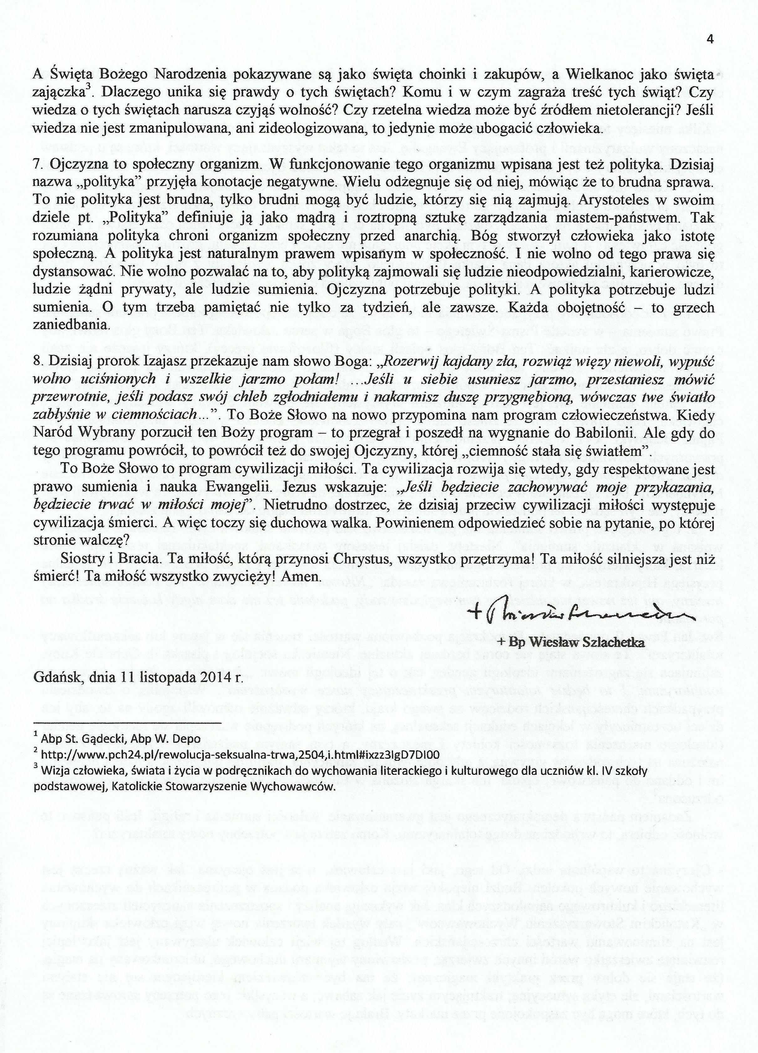 OJCZYZNA TO DAR I ZBIOROWYOBOWIĄZEK - bp Wiesław Szlachetka0004