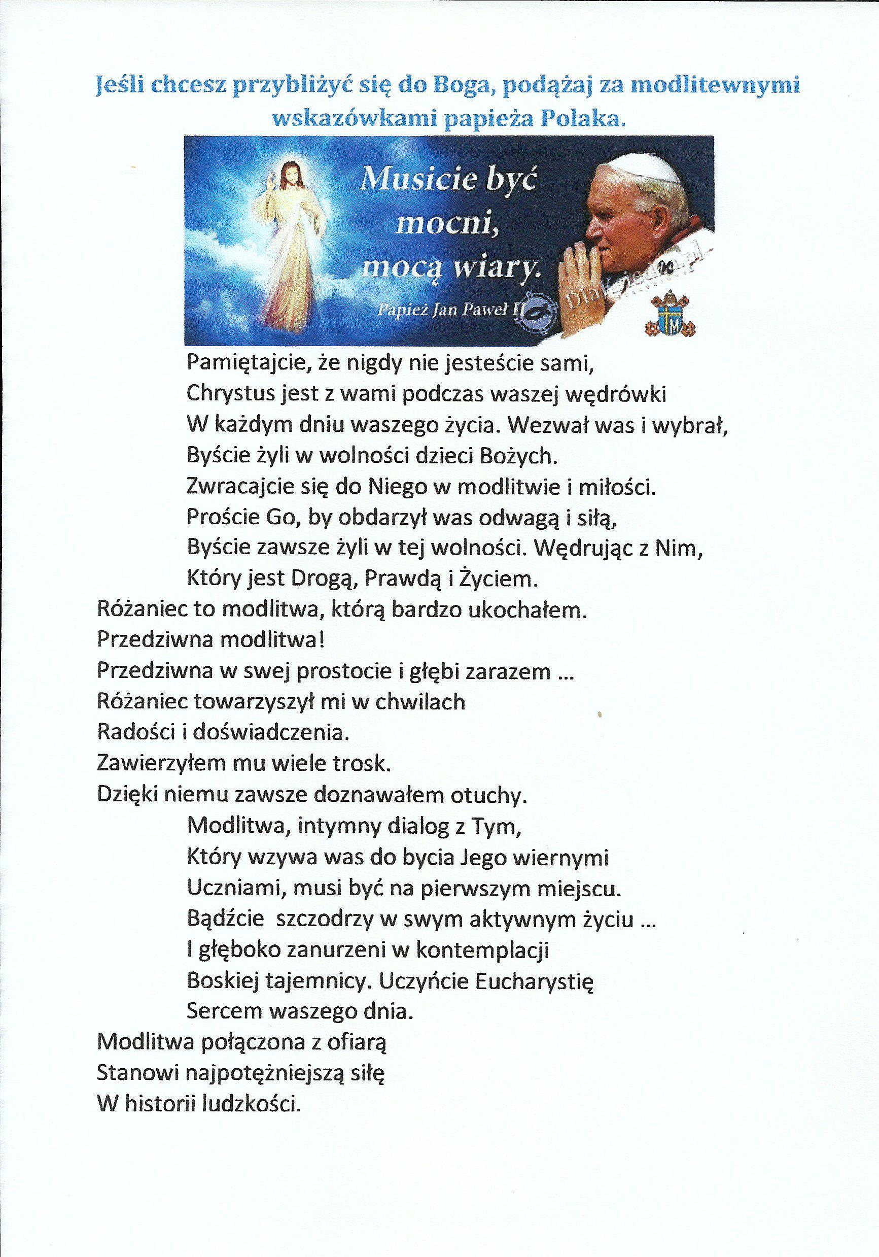 co św. Jan Paweł II mówi o modlitwie0002