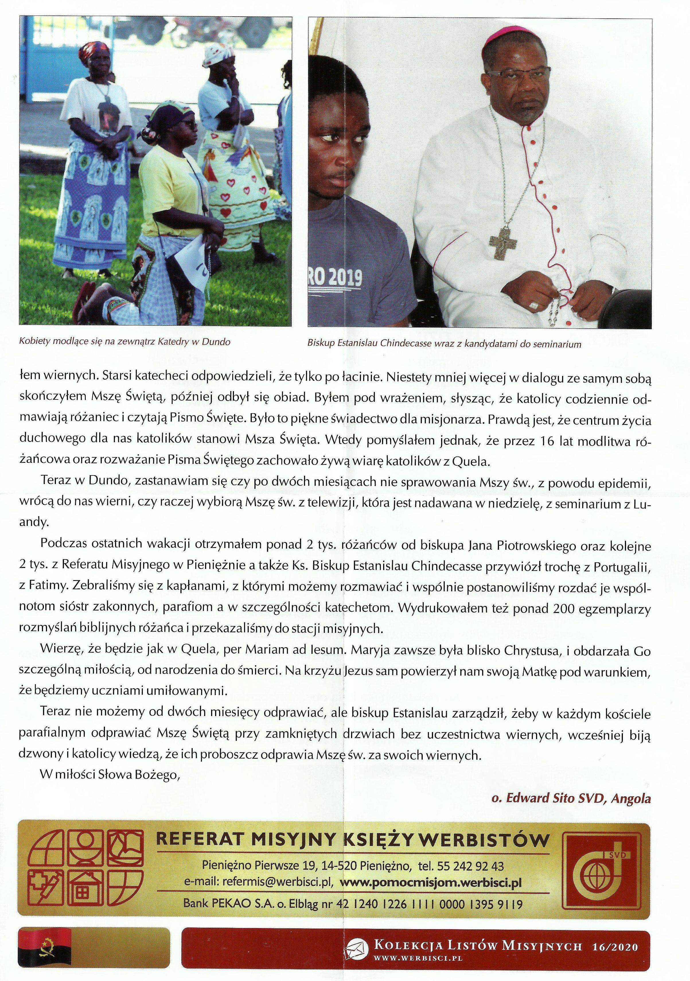 KOLEKCJA LISTÓW MISYJNYCH - NR 16-20200002