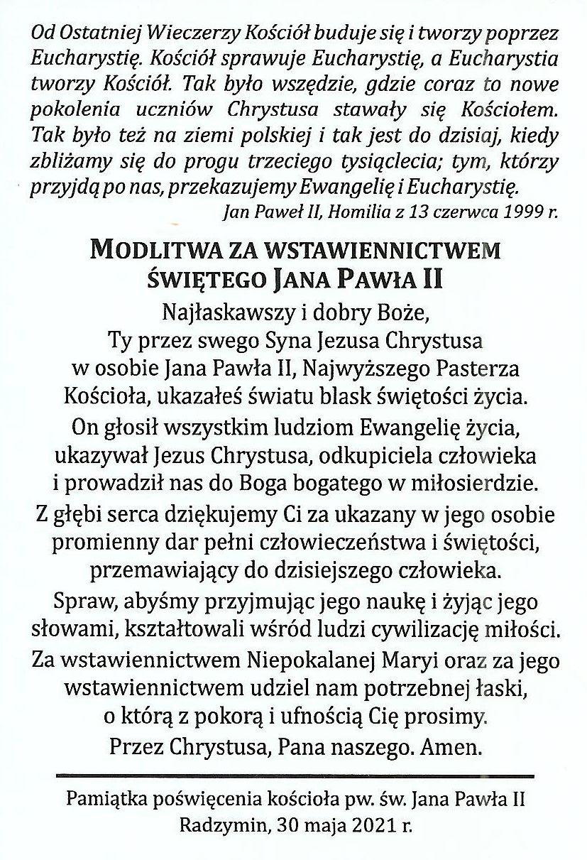 4. Modlitwa za wstawiennictwem św. Jana Pawła II0002